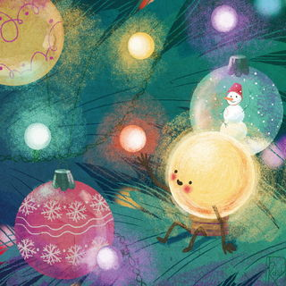 Новогодние лампочки / Shop of little joys