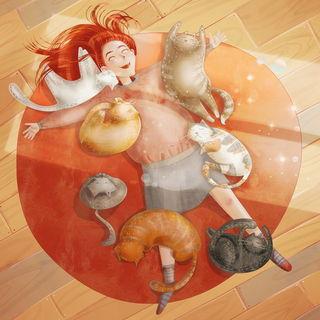 Лежать с котами / Shop of little joys