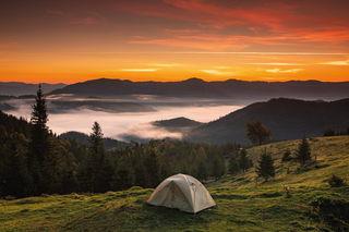 Палатка в горах / Shop of little joys