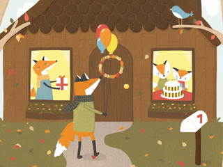 Fox goes on visit / Shop of little joys