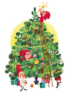 Christmas-tree with gnomes / Shop of little joys