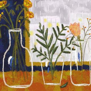 Стеклянные вазы / Shop of little joys