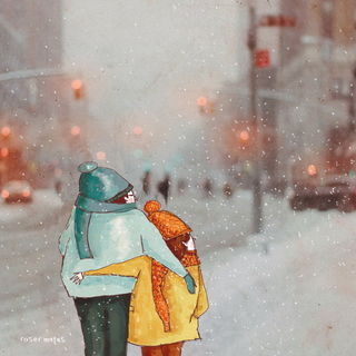 Пара гуляет / Shop of little joys