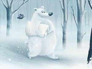 Медведь с подушкой